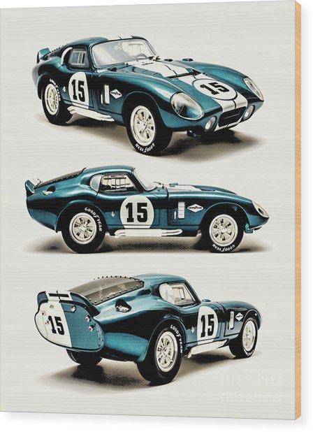 Shelby Cobra Daytona Wood Print