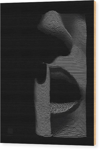 Wood Print featuring the digital art Shhh by ISAW Company