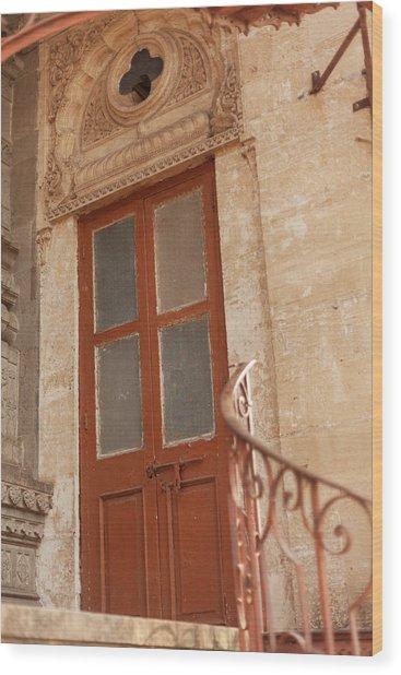 Shinde Chhatri Door Wood Print by Fran Riley