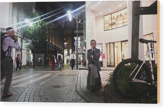 Shinjuku Man Wood Print