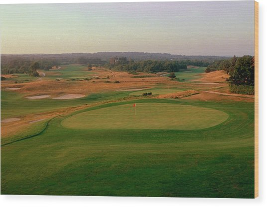 Shinnecock Hills Golf Course  -  9th Wood Print