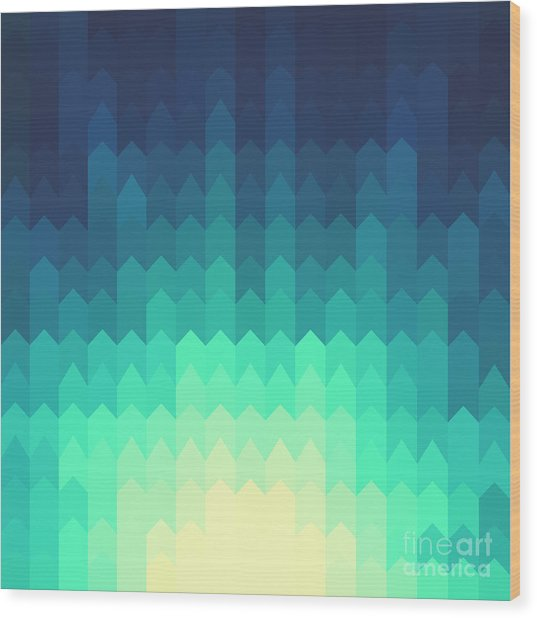 Shiny Background With Geometric Pattern Wood Print