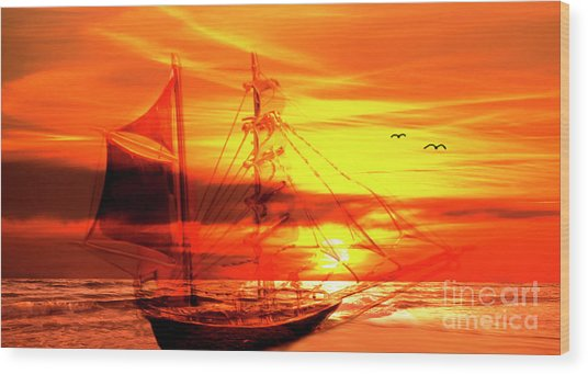 Shipwrecked Spectre  Wood Print