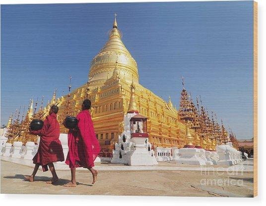 Shwezigon Paya, Bagan, Myanmar Wood Print