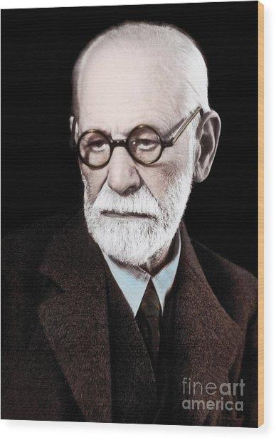 Sigmund Freud, Austrian Neuropsychiatrist, 1938 Wood Print
