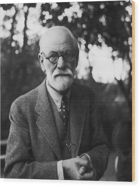 Sigmund Freud Wood Print by Hans Casparius