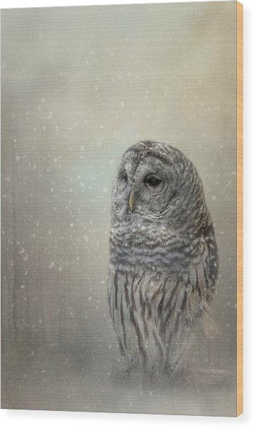 Silent Snow Fall Wood Print
