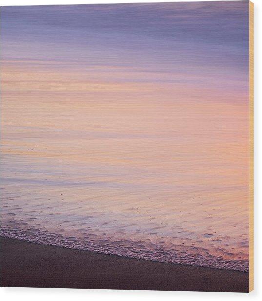 Silky Sea Wood Print