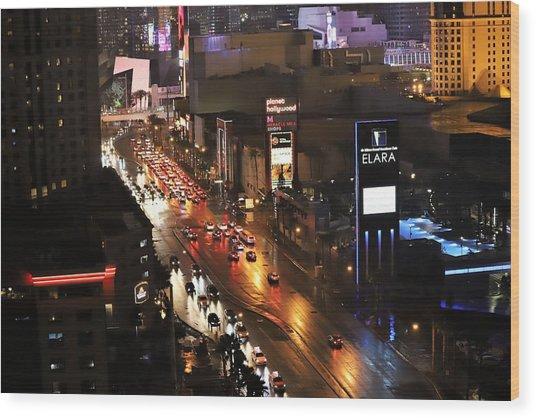 Sin City Traffic Wood Print
