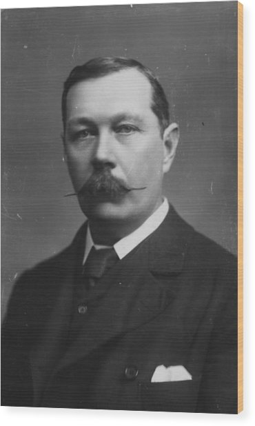 Sir Arthur Doyle Wood Print by Hulton Archive