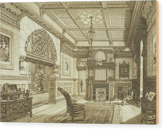 Sitting Room Of Bardwold, Merion Pa Wood Print