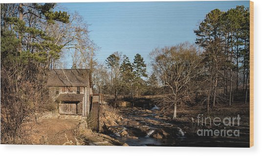 Sixes Mill Wood Print by Elijah Knight
