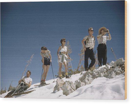 Ski Fashion Wood Print
