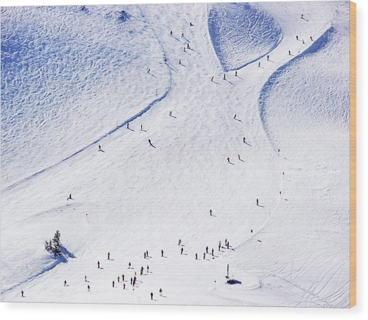 Ski Resort Wood Print