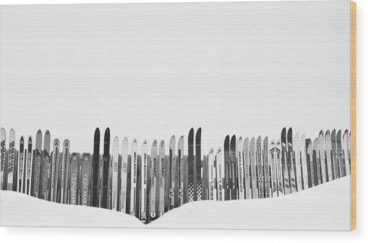 Ski Season Wood Print by Dana Klein