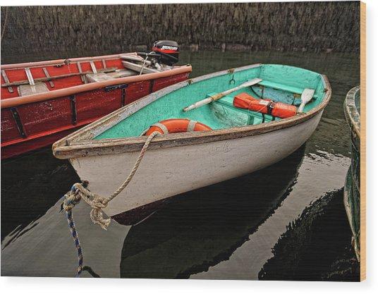 Skiffs Wood Print