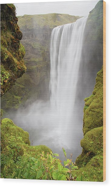 Wood Print featuring the photograph Skogafoss Iceland by Nathan Bush