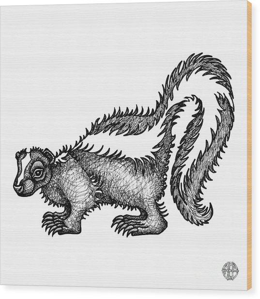Skunk Wood Print