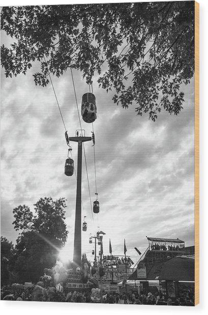 Sky Lift Wood Print