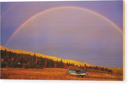Skylane Rainbow Wood Print