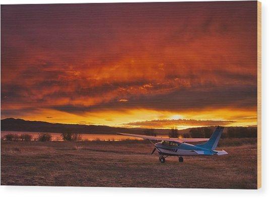 Skylane Sunrise Wood Print