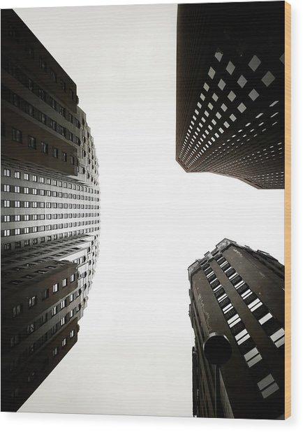 Skyscrapers Wood Print