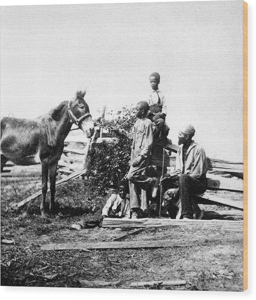 Slaves Wood Print by Archive Photos