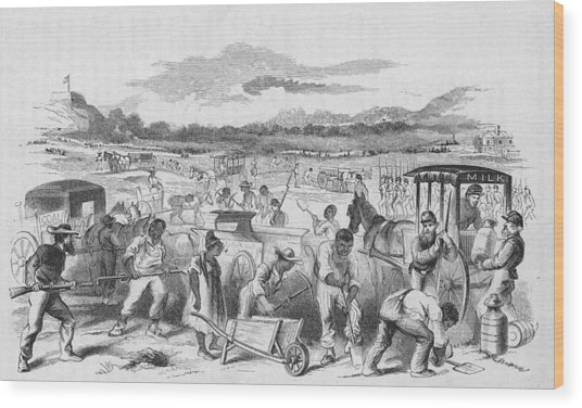 Slaves Forced To Work On Nashvillle Wood Print by Kean Collection