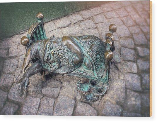Sleepy Head Wroclaw Poland  Wood Print