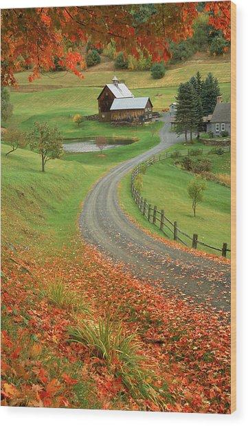 Sleepy Hollow Farm, Woodstock, Vt Wood Print