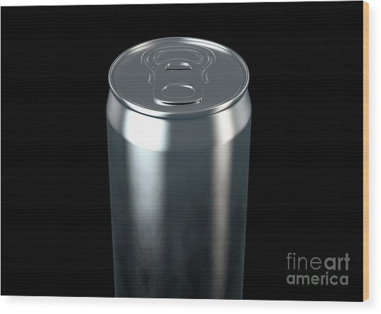 Slim Aluminum Can Wood Print