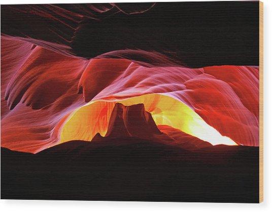 Slot Canyon Mountain Wood Print