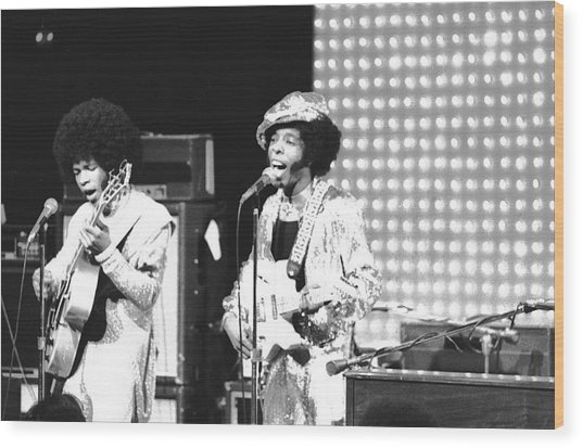 Sly And The Family Stone On The Wood Print