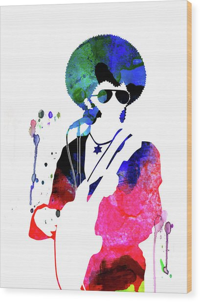 Sly And The Family Stone Watercolor Wood Print