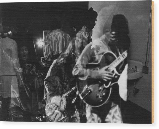Sly Stone Backstage Wood Print