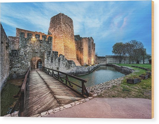 Smederevo Fortress Gate And Bridge Wood Print