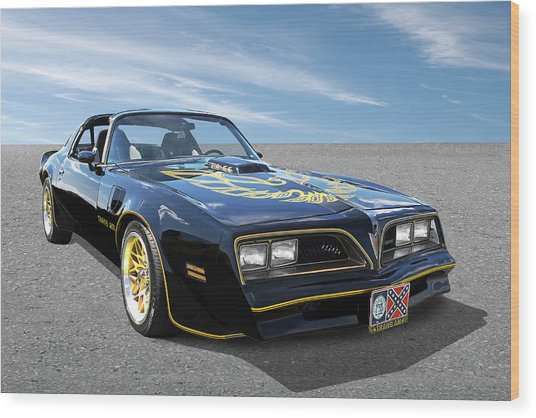 Smokey And The Bandit Trans Am Wood Print