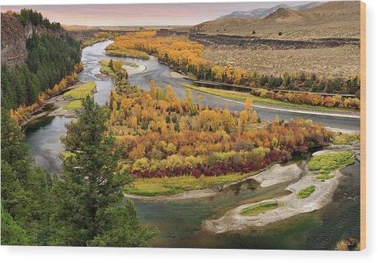 Snake River Autumn Wood Print