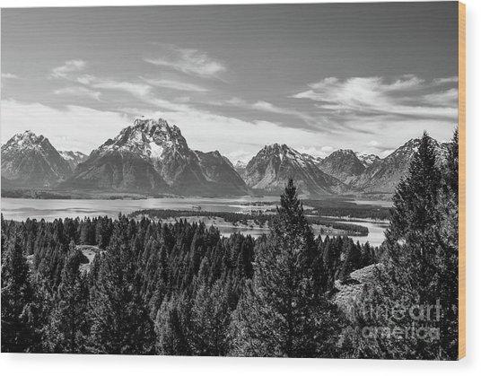Snake River Teton Mountains Wood Print
