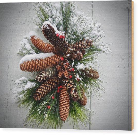 Snow Cones Wood Print