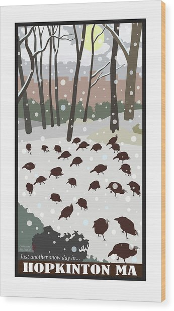 Snow Day In Hopkinton Wood Print
