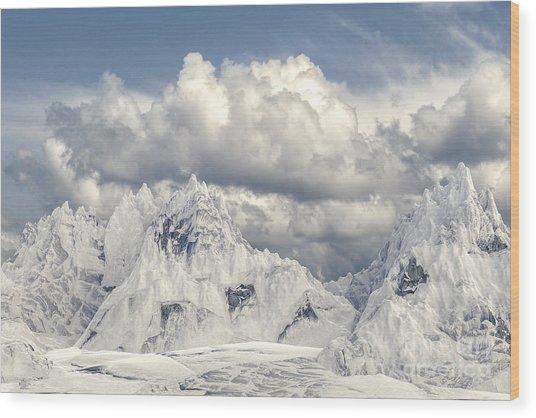 Snowy Mountain 002 Wood Print