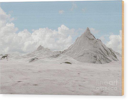 Snowy Mountain 007 Wood Print