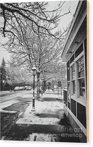 Snowy Northampton, Ma, Part 1 Wood Print by JMerrickMedia
