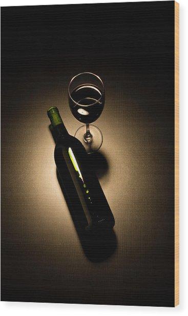Social Drinker Wood Print by Halbergman
