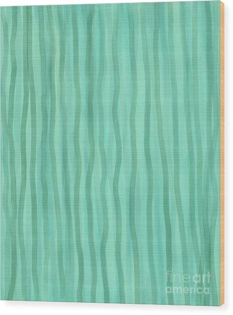 Soft Green Lines Wood Print