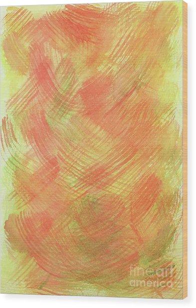 Soft Orange Colors 2 Wood Print