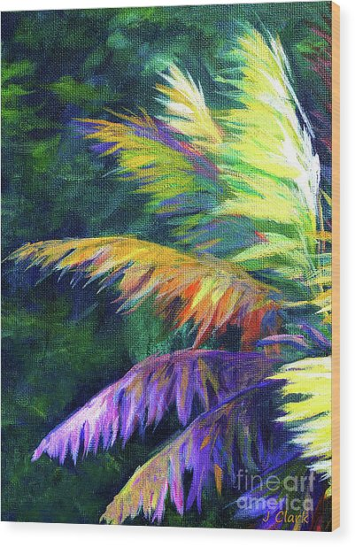 Soft Palm Wood Print