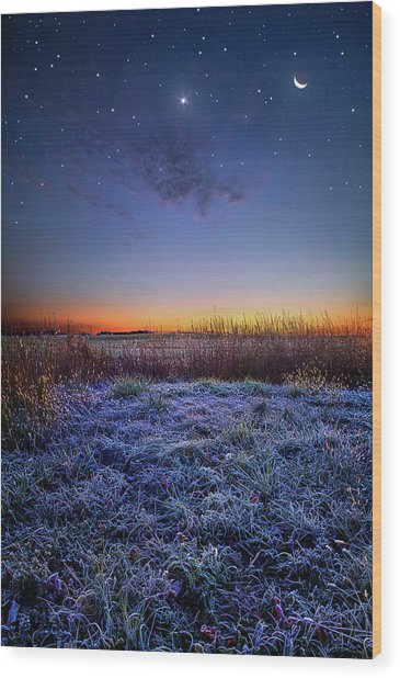 Wood Print featuring the photograph Softly Spoken Prayers by Phil Koch
