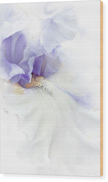Softness Of A Lavender Iris Flower Wood Print